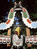 Totem at Stanley Park, Vancouver, British Columbia, Canada Photographic Print by Hans Peter Merten