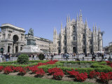Piazza Del Duomo, Milan, Lombardy, Italy Photographic Print by Hans Peter Merten