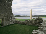 Early Christian Buildings, Devenish Island, County Fermanagh, Northern Ireland Photographic Print by Michael Jenner