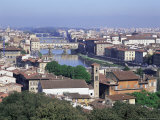 View of City from Piazzale Michelangelo, Florence, Tuscany, Italy Photographic Print by Hans Peter Merten