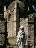 Priest Caretaker, Kuskuam (Kusquam) Church, Gondar, Ethiopia, Africa Photographic Print by David Poole