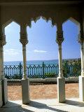 View to Sea Through Moorish Arches at Palacio De Valle, Cienfuegos, Cuba, West Indies Photographic Print by Lee Frost