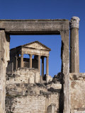 The Capitol, Roman Ruins at Dougga, UNESCO World Heritage Site, Tunisia, North Africa, Africa, Photographic Print