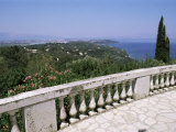 View from Achilleon Palace, Corfu, Ionian Islands, Greece Photographic Print by Hans Peter Merten