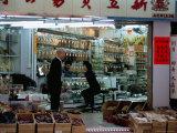 Dried Seafood Shop, Des Voeux Road West, Sheung Wan, Hong Kong Island, Hong Kong, China Photographic Print by Amanda Hall