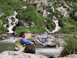 Resting by the Rio Cares, Central Massif, Picos De Europa, Cantabria, Spain Photographic Print by Duncan Maxwell