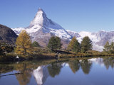 The Matterhorn Reflected in Grindjilake, Switzerland Photographic Print by Ursula Gahwiler