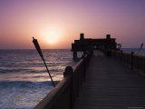 Pier at Madinat Jumeirah Hotel, Dubai, United Arab Emirates, Middle East Photographic Print by Amanda Hall