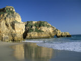 Beach, Praia Da Rocha, Algarve, Portugal Photographic Print by Amanda Hall