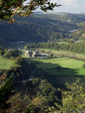 Tintern Abbey, Gwent, South Wales, Wales, United Kingdom Fotografisk tryk af Roy Rainford