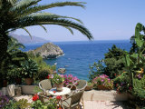 Mazzaro Beach, Taormina, Island of Sicily, Italy, Mediterranean Photographie par J Lightfoot