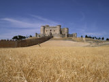 Castle and Walls, Belmonte, Castilla La Mancha, Spain Photographic Print by J Lightfoot