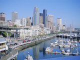 Waterfront and Skyline of Seattle, Washington State, USA Photographic Print by J Lightfoot