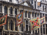 Banners Representing Houses, Grand Place, Brussels, Belgium Photographic Print by Lousie Murray