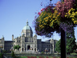 Parliament Building, Victoria, Vancouver Island, British Columbia, Canada Photographic Print by J Lightfoot