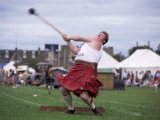 Throwing the Light Hammer, Aboyne Highland Games, Aboyne, Scotland, United Kingdom Photographic Print by Lousie Murray