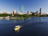 City Skyline Across the Charles River, Boston, Massachusetts, New England, USA Photographic Print by Amanda Hall