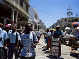 Market Scene, Downtown, Port Au Prince, Haiti, West Indies, Central America Photographic Print by Lousie Murray