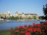 Empress Hotel and Innter Harbour, Victoria, Vancouver Island, British Columbia, Canada Photographic Print by J Lightfoot