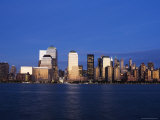 Lower Manhattan Skyline at Dusk Across the Hudson River, New York City, New York, USA Photographic Print by Amanda Hall