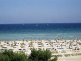 Beach in Alcudia, Majorca, Balearic Islands, Spain, Mediterranean Photographie par Hans Peter Merten