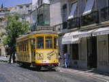 Tram, Lisbon, Portugal Photographic Print by J Lightfoot