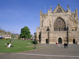 Exeter Cathedral, Exeter, Devon, England, United Kingdom Photographic Print by J Lightfoot