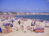 The Beach, Weymouth, Dorset, England, United Kingdom Photographic Print by J Lightfoot