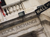 New York Stock Exchange, Wall Street, Manhattan, New York City, New York, USA Fotografie-Druck von Amanda Hall
