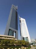 Emirates Towers, Sheikh Zayed Road, Dubai, United Arab Emirates, Middle East Photographic Print by Amanda Hall