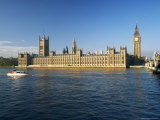 The Houses of Parliament, Unesco World Heritage Site, Across the River Thames, London, England Photographic Print by Roy Rainford
