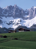 Kaiser Gebirge Mountain Range from the South, Above Ellmau, Tirol, Austrian Alps, Austria Photographic Print by Ursula Gahwiler