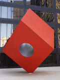 Red Cube Sculpture, 1968 by Isamu Noguchi at 140 Broadway, Manhattan, New York Photographic Print by Amanda Hall