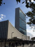 United Nations Headquarters Building, Manhattan, New York City, New York, USA Fotografie-Druck von Amanda Hall