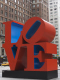 Love Sculpture by Robert Indiana, 6th Avenue, Manhattan, New York City, New York, USA Photographic Print by Amanda Hall