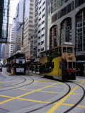 Tram, Sheung Wan, Hong Kong Island, Hong Kong, China Photographic Print by Amanda Hall