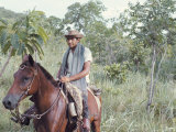 Kadiweu Indian Horseman, Brazil, South America Photographic Print by Robin Hanbury-tenison