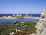 Rocks and Coast, Pors Bugalez, Brittany, France Photographic Print by J Lightfoot