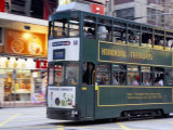 Tram, Causeway Bay, Hong Kong Island, Hong Kong, China Photographic Print by Amanda Hall