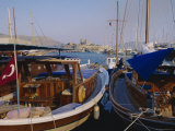 The Harbour, Bodrum, Anatolia, Turkey Photographic Print by J Lightfoot