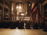 Morning Service in Hatto (Dharma Hall), Elheiji Zen Monastery, Japan Photographic Print by Ursula Gahwiler