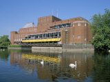 Royal Shakespeare Theatre and River Avon, Stratford Upon Avon, Warwickshire, England Photographic Print by J Lightfoot