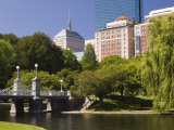 Lagoon Bridge in the Public Garden, Boston, Massachusetts, New England, USA Photographic Print by Amanda Hall