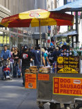 Hot Dog and Pretzel Stand, Manhattan, New York City, New York, USA Photographic Print by Amanda Hall