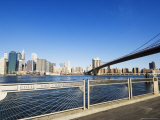 Brooklyn Bridge and Manhattan from Fulton Ferry Landing, Brooklyn, New York City, USA Photographic Print by Amanda Hall