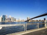 Brooklyn Bridge and Manhattan from Fulton Ferry Landing, Brooklyn, New York City, USA Photographic Print by Amanda Hall
