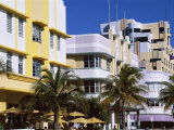 Art Deco District, Ocean Drive, Miami Beach, Florida, United States of America (Usa), North America Photographic Print by Amanda Hall