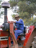Farm Worker on Tractor, South Africa, Africa Photographic Print by Amanda Hall