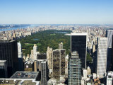 High View of Central Park and Upper Manhattan, New York City, New York, USA Photographic Print by Amanda Hall