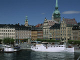 Munkbroleden Waterfront, Gamla Stan (Old Town), Stockholm, Sweden, Scandinavia Photographic Print by Duncan Maxwell